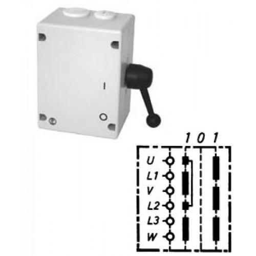 Арт. 46502 Моторный реверсивный выключатель, 45A/690V IP65, код заказа TWT 32