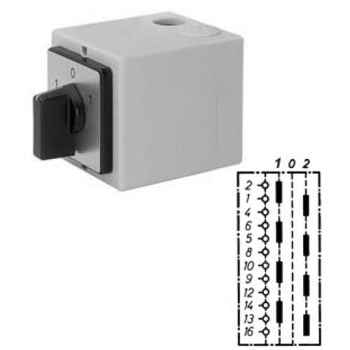 """Арт. 143024 Моторный переключатель для 2-х цепей четырехполюсный с положением """"0"""", 25A/690V IP65, код заказа U4T 25"""