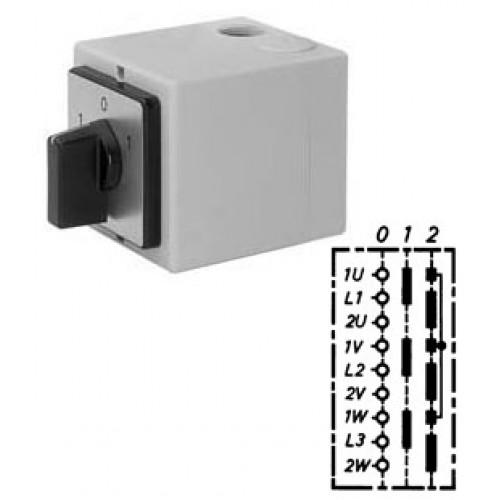 Арт. 147032 Переключатель полярности для 2-х скоростей вращения, 32A/690V IP65, код заказа PIT 32