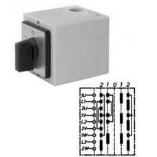 Арт. 138468 Переключатель полярности для 2-х скоростей и 2-х направлений вращения, 20A/690V IP65, код заказа WP 20