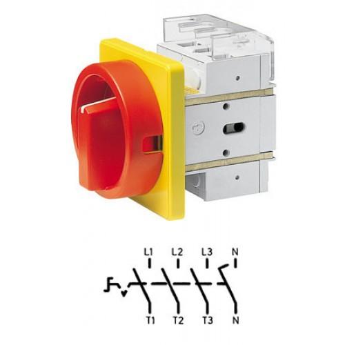 Арт. 302503 Выключатель нагрузки поворотный, четырехполюсный DK1 04/HS-F35-D-RG 25A/690V IP65