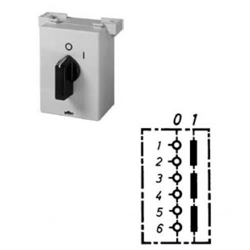 Арт. 137896 Трехполюсный выключатель в пластиковом корпусе для подстольного монтажа, 25A/690V IP42, код заказа B1N A-UT37/3-B-MSX