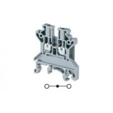 Арт. CTS2.5UN Клемма проходная, c винтовыми зажимами для проводника до 2.5 мм.кв. 24A/1000V