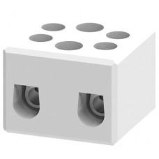 Арт. CB16/2H Двухполюсный керамический клеммный блок, с винтовыми зажимами проводника до 10 мм.кв. 57A/800V Тип C