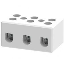 Арт. CB16/3H Трехполюсный керамический клеммный блок, с винтовыми зажимами проводника до 10 мм.кв. 57A/800V Тип E