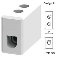 Арт. CB4/1 Однополюсный керамический клеммный блок, с винтовыми зажимами проводника до 2.5 мм.кв. 24A/800V Тип А