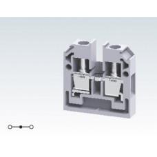 Арт. CMB4 Проходная клемма для монтажа на плоскую поверхность с винтовыми зажимами проводника до 4 мм.кв. 32A/500V