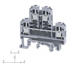 Арт. CDL4UED1 Двухуровневая клемма, винтовые зажимы проводника до 4 мм.кв. 32A/500V с диодной схемой - конфигурация D1