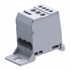 Арт. DB16 Вводно-распределительный клеммный блок с винтовыми зажимами проводника. Вход 6-16 мм.кв., выход 2.5-6 мм.кв. 76A/1000V.