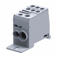 Арт. DB35 Вводно-распределительный клеммный блок с винтовыми зажимами проводника. Вход 6-35 мм.кв., выход 6-16 и 2.5-10 мм.кв. 125A/1000V.