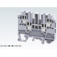 Арт. CMC2-2 Клемма проходная многорядная 2+2, с винтовыми зажимами проводника до 4 мм.кв., 32 A/630 V