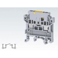 Арт. CKT4U/S Клемма тестовая (разъединяемая), терминалы с винтовыми зажимами проводника сечением до 4 мм.кв. 28A/800V