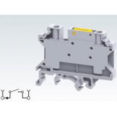 Арт. CKT4SP Клемма тестовая (разъединяемая), 2 терминала с винтовыми зажимами проводника сечением до 4 мм.кв. 28A/1000V
