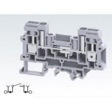Арт. CDS6U Клемма тестовая (разъединяемая), 2 терминала с винтовыми зажимами проводника сечением до 6 мм.кв. 41A/800V