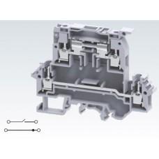 Арт. DDDL4U Клемма тестовая (разъединяемая) двухуровневая, 4 терминала (2+2) с винтовыми зажимами проводника сечением до 4 мм.кв. 10A/800V