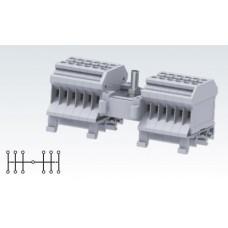 Арт. CDB4 Вводно распределительный клеммный блок. Вход 0.2-4 мм.кв. 64A/800V, выход 0.2-2.5 мм.кв. 32A/800V.