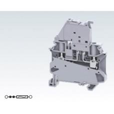 Арт. CYF4 Клемма серии CY с предохранителем, винтовые зажимы для проводника до 4 мм.кв. 10 A/1000V