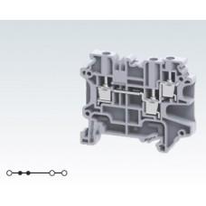 Арт. CY4/3 Клемма серии CY проходная многорядная 1+2, с винтовыми зажимами проводника до 4 мм.кв., 32 A/1000 V