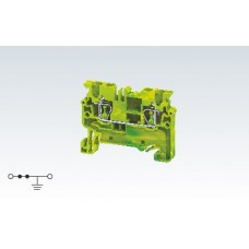 Арт. CXG2.5 Клемма заземления с пружинными зажимами проводника до 2.5 мм.кв.