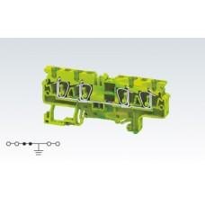 Арт. CXG4/4 Клемма заземления четырехрядная с пружинными зажимами проводника до 4 мм.кв.