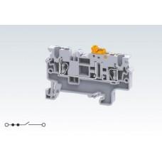 Арт. CXK2.5 Клемма тестовая (разъединяемая), пружинные зажимы проводника до 2.5 мм.кв. 20A/1000V
