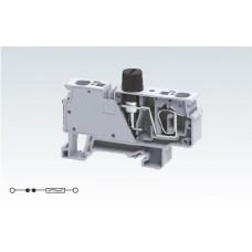 Арт. CXVF Клемма серии CX с предохранителем, пружинные зажимы проводника до 6 мм.кв 10A/800V