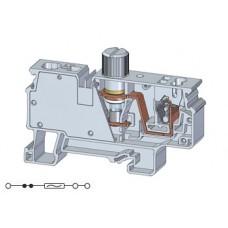 Арт. CXVF2.5 Клемма серии CX с предохранителем, пружинные зажимы проводника до 2.5 и 6 мм.кв 10A/800V