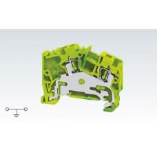 Арт. AGT2.5 Угловая клемма заземления с пружинными зажимами проводника до 2.5 мм.кв
