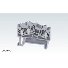 Арт. AS2.5/3 Трехрядная угловая клемма с пружинными зажимами проводника до 2.5 кв.мм 24A/800V