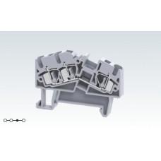 Арт. AS4/3 Трехрядная угловая клемма с пружинными зажимами проводника до 4 кв.мм 32A/800V