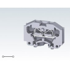 Арт. CM1.5S Проходная клемма для монтажа на плоскую поверхность с пружинными зажимами проводника до 1.5 мм.кв. 17A/500V