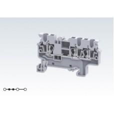 Арт. CX2.5/3 Трехрядная клемма серии CX с пружинными зажимами проводника до 2.5 мм.кв. 24A/1000V