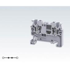 Арт. CX2.5 Клемма проходная с пружинными зажимами проводника до 2.5 мм.кв. 24A/1000V