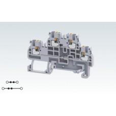 Арт. CPDL1.5 Двухуровневая клемма (2+2) с пружинными зажимами нажимного действия (Push-In type) 1.5 мм.кв.16A/800V
