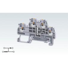 Арт. CPDL1.5(I.S) Двухуровневая замкнутая клемма с пружинными зажимами нажимного действия (Push-In type) 1.5 мм.кв.16A/800V