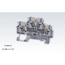 Арт. CPDL2.5 Двухуровневая клемма (2+2) с пружинными зажимами нажимного действия (Push-In type) 2.5 мм.кв.24A/1000V