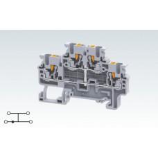 Арт. CPDL2.5(I.S) Двухуровневая замкнутая клемма с пружинными зажимами нажимного действия (Push-In type) 2.5 мм.кв.24A/1000V