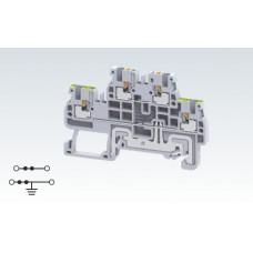 Арт. CPDLG1.5 Двухуровневая клемма (2+ЗК) с пружинными зажимами нажимного действия (Push-In type) 1.5 мм.кв.16A/800V