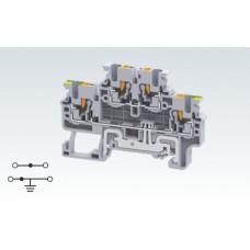 Арт. CPDLG2.5 Двухуровневая (2+ЗК) клемма с пружинными зажимами нажимного действия (Push-In type) 2.5 мм.кв.24A/1000V