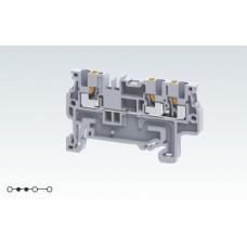 Арт. CP1.5/3 Трехрядная клемма серии CP с пружинными зажимами проводника до 1.5 мм.кв. 16A/800V