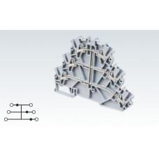 Арт. CP3L2.5(I.S) Трехуровневая замкнутая клемма с пружинными зажимами нажимного действия (Push-In type) 2.5 мм.кв.24A/500V