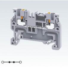 Арт. CP1.5 Проходная клемма с пружинными зажимами нажимного действия (Push-In type), для проводников 0.2-1.5 мм.кв. 16A/800V