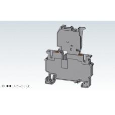 Арт. CPF4 Клемма с предохранителем, пружинные зажимы нажимного действия (Push-In type) до 4 мм.кв. 10A/1000V