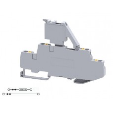 Арт. CPDLF2.5 Клемма двухуровневая с предохранителем, пружинные зажимы до 2.5 мм.кв. 6.3A и 22A/500V