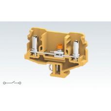 Арт. CMDT4 Меламиновая разъединяемая клемма с зажимом проводника до 6 мм.кв. 41A/1100V