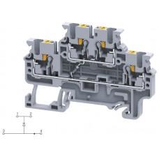 Арт. CPDL2.5(E)D1 Двухуровневая клемма серии CP, пружинные зажимы проводника до 2.5 мм.кв. 1A/600V с диодной схемой - конфигурация D1