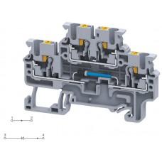 Арт. CPDL2.5(E)D3 Двухуровневая клемма серии CP, пружинные зажимы проводника до 2.5 мм.кв. 1A/600V с диодной схемой - конфигурация D3