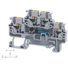 Арт. CPDL2.5(E)DD1 Двухуровневая клемма серии CP, пружинные зажимы проводника до 2.5 мм.кв. 1A/600V с диодной схемой - конфигурация DD1