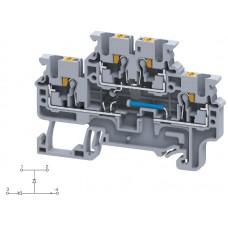 Арт. CPDL2.5(E)DD2 Двухуровневая клемма серии CP, пружинные зажимы проводника до 2.5 мм.кв. 1A/600V с диодной схемой - конфигурация DD2