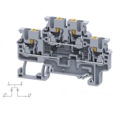 Арт. CPDL2.5(E)DD3 Двухуровневая клемма серии CP, пружинные зажимы проводника до 2.5 мм.кв. 1A/600V с диодной схемой - конфигурация DD3